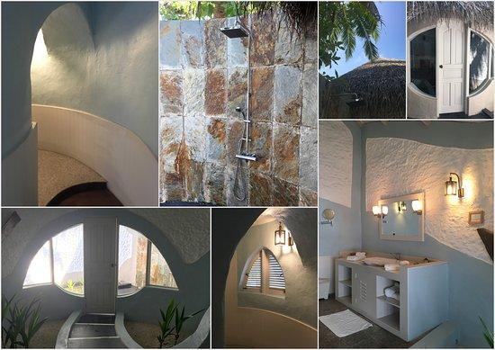 Bathroom/bathrooms, inside/outdoors, Beach deluxe villa