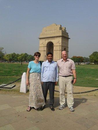 At India gate delhi
