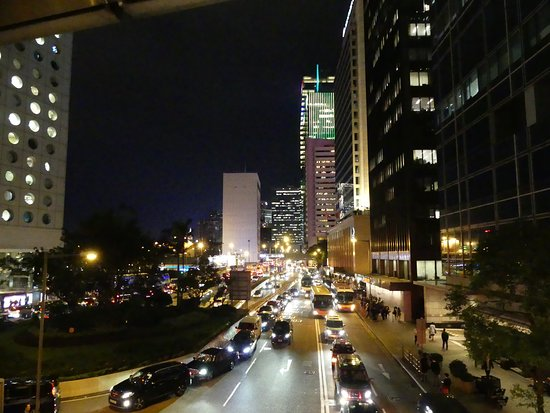 Central: The view of Connaught Road and Jardin House