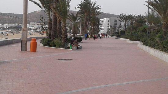 Agadir, Morocco: View along the Promenade