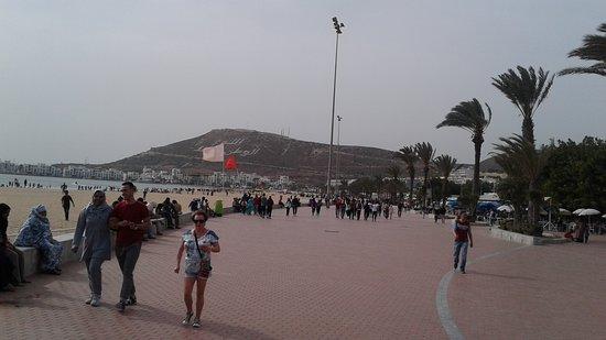 Agadir, Morocco: Another view along the Promenade