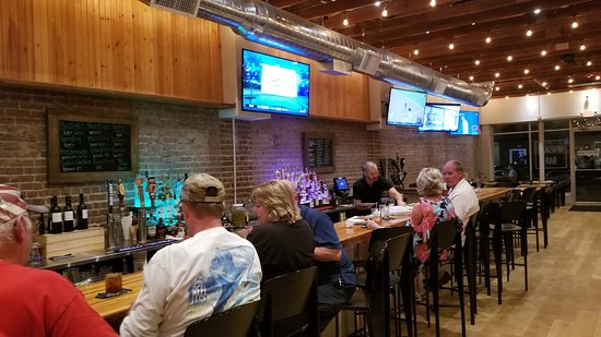 Two 09 West Main: Bar with sports viewable to only 1/3 of restaurant
