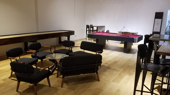 Two 09 West Main: Side recreation room - nobody on Friday night 8pm