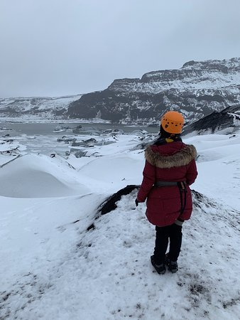 Wonderful experience of walking on the Solheimajokull Glacier with Icelandic Mountain Guides.