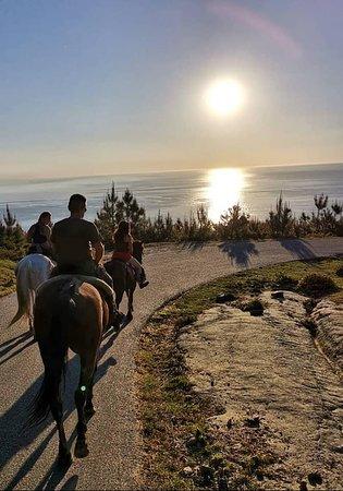 Mougas, Ισπανία: Maravillosas vistas en una de las rutas preferidas por los clientes de el Picadero o Rancho.