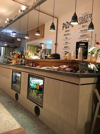 Dope: Interior of narrow restaurant