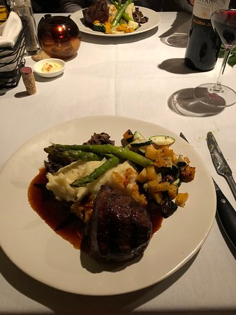 Filet Mignon - again, note the care in presentation!