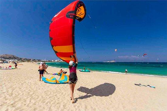 launching- Naxos kitelife kitesurfing school