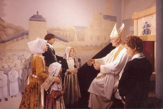 Sainte-Anne-d'Auray, Frankrig: Visite du pape au musée