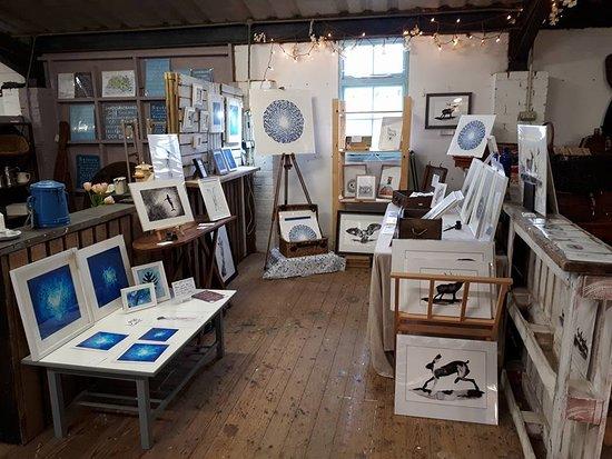 Wareham, UK: Jinks Art's bay of nature inspired local ink artwork