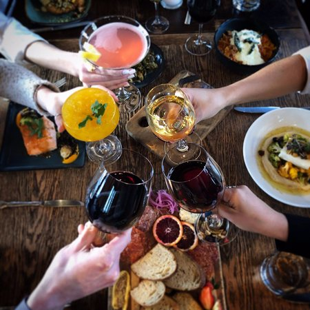 Cheers! Come try our Craft Cocktails and great wine list!