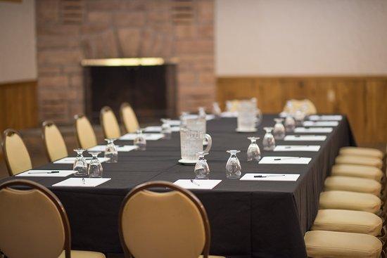 Dunham's Bay Resort: The Adirondack Room- Boardroom Style Layout