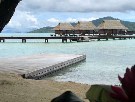 Vahine Island ile privée Resort & Spa : View from dining table in restaurant