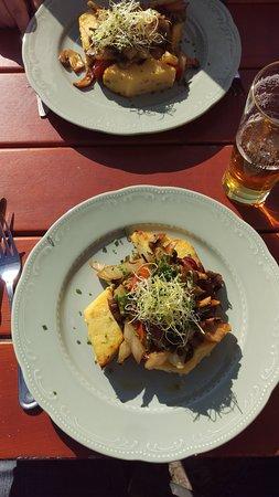 Champignons og polenta