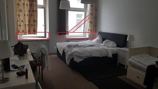 Zu kurze Gardinen, Fensterleiste defekt