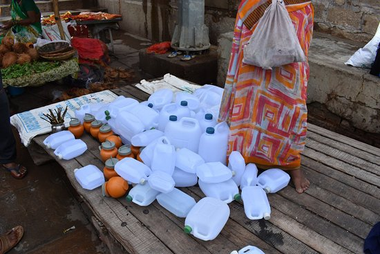 bottles for taking water from holly Ganga