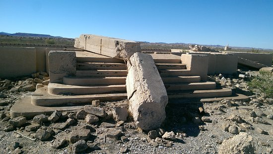 "Lake Mead National Recreation Area: St. Thomas, Nevada ""Ghost Town"" - School steps"