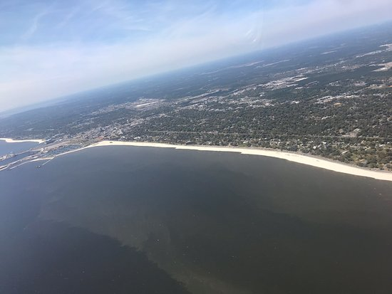 The beach in Gulfport MS