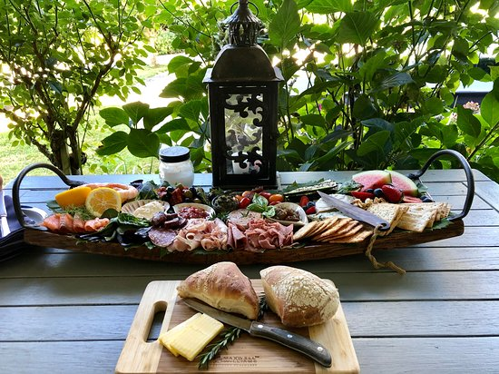 Our delicious platter - thanks!