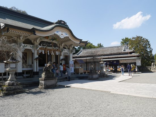Takeo Shrine: 神社本殿前の風景