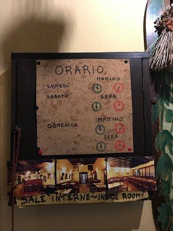 Antica Osteria Ruga Rialto: スケジュール