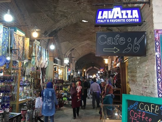 Bazaar of Isfahan : And a good coffee as well.