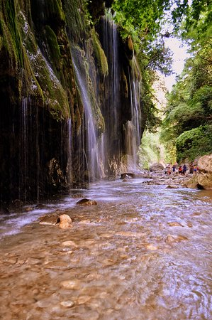 """Greek Adventure: River Trekking in """"Panta Vrechi"""" Gorge A hidden paradise for nature lovers. After we drive through the mountain, we end to the riverside of Krikelopotamos. We walk in the riverbanks and in the river's crystal clear waters until we arrive to the amazing waterfalls of Panta Vrechi."""