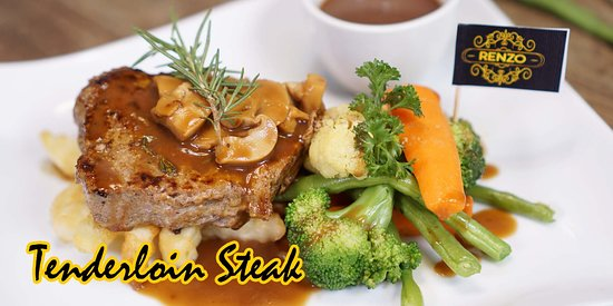 RENZO CAFE AND RESTO, Great place to start exploring the flavours  Pict. Tenderloin Steak