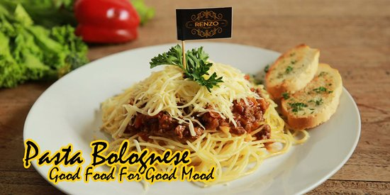 RENZO CAFE AND RESTO, Great place to start exploring the flavours  Pict. PASTA BOLOGNESE Good Food for Good Mood