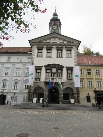 Ljubljana, Szlovénia: The old townhall