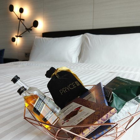 5 minibar items selected at check in (+ extra tea for soft launch guests)