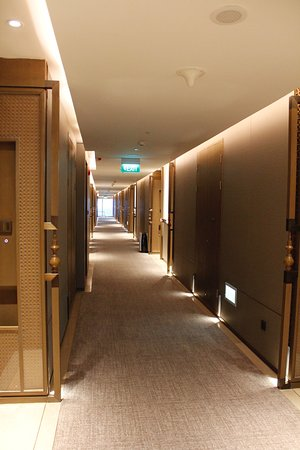 Hotel corridors on tenth floor