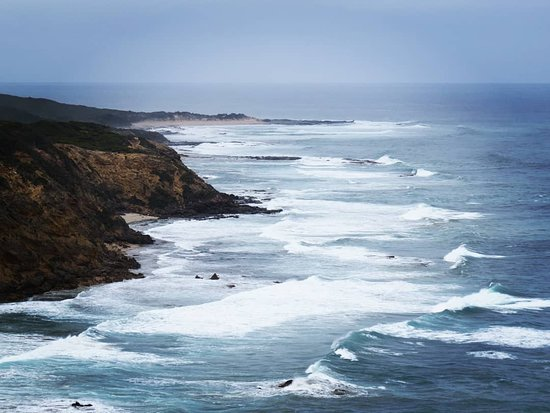 Full-Day Great Ocean Road and 12 Apostles Sunset Tour from Melbourne: Taking a photo from the Otway Lighthouse