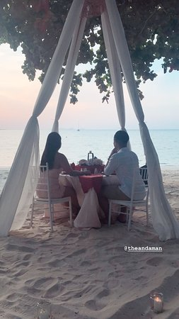 The Andaman, a Luxury Collection Resort, Langkawi: Private Beach Dinner Setup