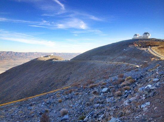 Vallenar, Chile: Las Campana Observatory (LCO) looking towards the Magellan Telescopes (twin 6.5m).