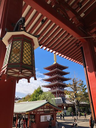Beautiful pagoda from the temple.