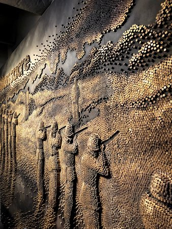 Mural made from bullets