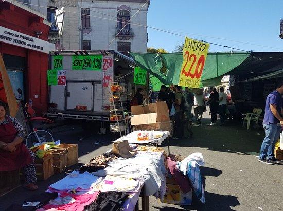 End of market near La Paz
