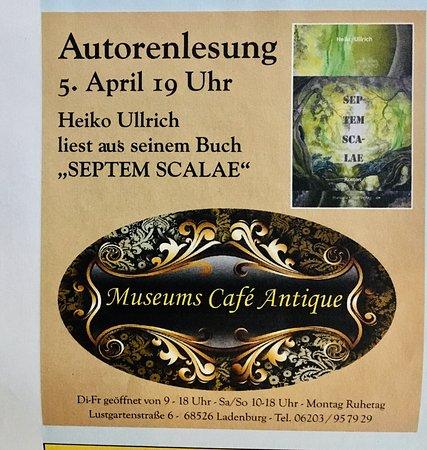 Lesung am 5.April 2019 um 19 Uhr im Museums Café Antique