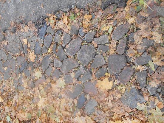 Smolensk, Russland: Мощение булыжником