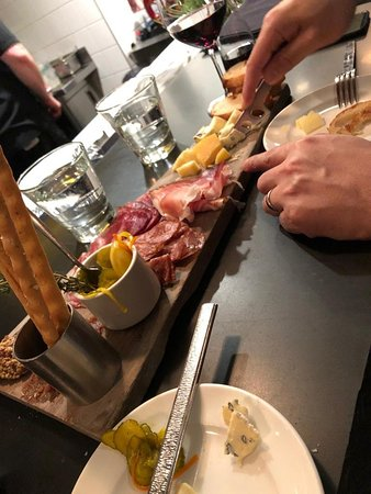 Evening out - wine and charcuterie