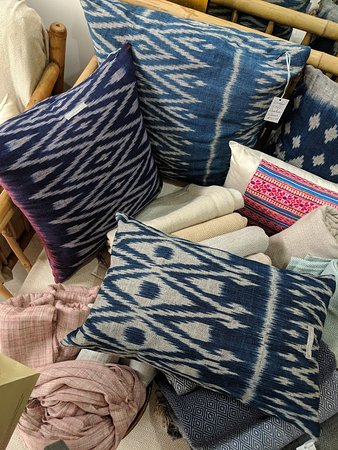 Louise Loubatieres: one of the handmade pillows we purchased