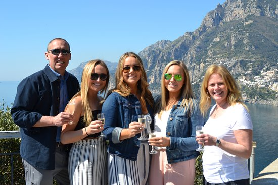 Amalfi Coast and Surrounding Area: The family with Positano in the background.