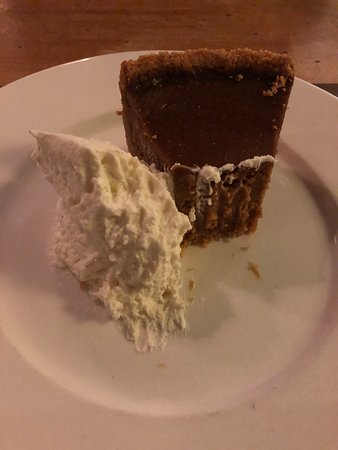 The caramel pie was delicious and decadent!