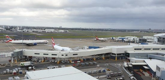 Good to keep an eye on the airport transport from the room. Quiet too.