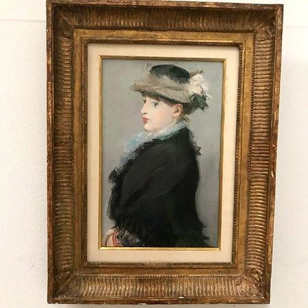 マネ 『灰色の羽帽子の婦人』