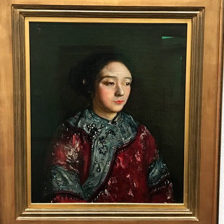 Hiroshima Museum of Art: 岸田劉生 『志那服を着た妹』   もう、名画が枚挙、枚挙 の常設展!! ドービニの企画展も、吹き飛びそうな作品群でした。