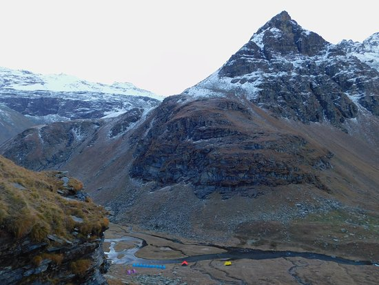 Upper Waterfall campsite, part of Rupin Pass Trek