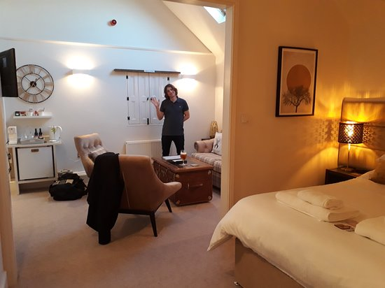 The suite showing bedroom area and mini-lounge