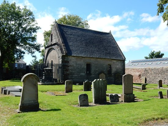 Skelmorlie Aisle, Largs, the visitor centre next door has the key and will let you in and wait; feel free to take your time exploring